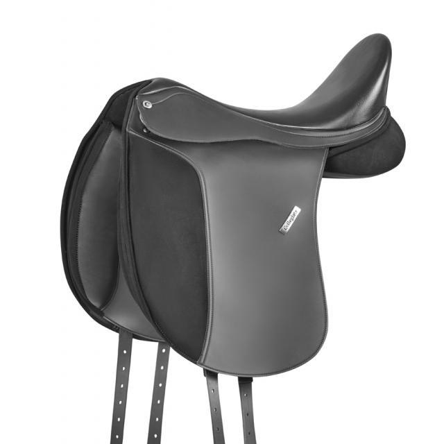 Collegiate Chatsworth Synthetic Dressage Saddle Black